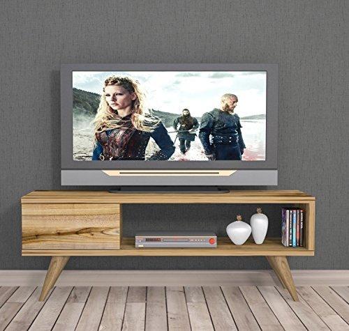 Homidea INCA TV Lowboard/Natur-Holzfarbe/TV Board - Fernsehtisch in elegantem Design