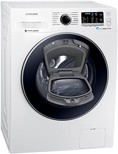 Samsung WW8EK5400UW/EG AddWash Waschmaschine FL/A+++/116 kWh/Jahr/1400 UpM/8 kg/Weiß/Add Wash/Smart Check/Digital Inverter Motor