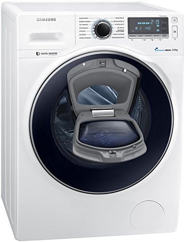 Samsung WW90K7405OW/EG Waschmaschine FL/A+++/151 kWh/Jahr/1400 UpM/9 kg/Add Wash/WiFi Smart Control/Super Speed Wash/Digital Inverter Motor/weiß
