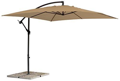Schneider Schirm Milano, sand, 270x270 cm quadratisch, Gestell Stahl, Bespannung Polyester, 13.9 kg