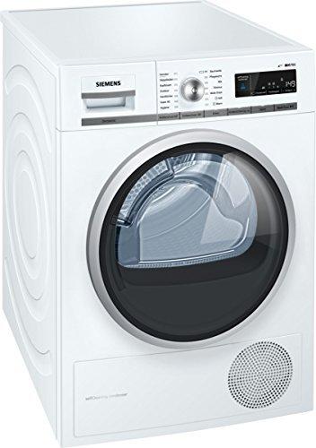Siemens WT47W5W0 iQ700 Wärmepumpentrockner/A+++/8 kg/Großes Display mit Endezeitvorwahl/weiß