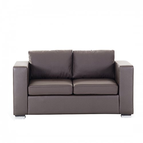 Beliani 2-Sitzer Sofa Leder braun HELSINKI