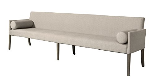 Sofabank 290cm CROSS aus Stoff in grau