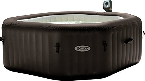 Intex 28436 PureSpa Achteckiger Whirlpool, 218x 71cm, 6-Sitzer mit Pumpe, Heizung und Wasserreinigssystem