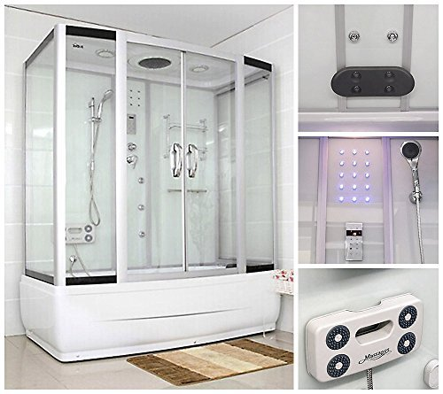 Home Deluxe | Duschtempel | Diamond BIG | weiß | inkl. Whirlpool und Dampfsauna