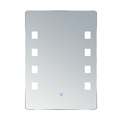 Homcom® Lichtspiegel LED Spiegel Badspiegel Badezimmerspiegel Wandspiegel (Modell2/50 x 70 x 4cm)