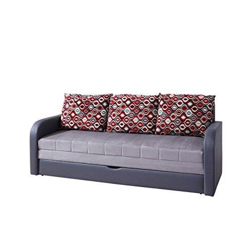 Mirjan24  Elegantes Sofa Lido, Design Couch mit Bettfunktion, Polstersofa mit Bettkasten und Schlaffunktion, Bettsofa,