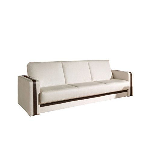 Mirjan24  Klassisches Sofa Euforia Quadro mit Bettkasten und Schlaffunktion, Bettsofa, Couch mit Bettfunktion, 2 Farben, Polstersofa