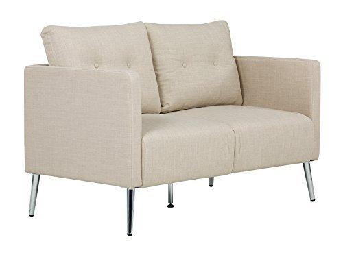 massivum Sofa 2Sitzer Melrose Chromfüße
