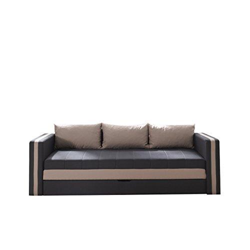 Schlafsofa Euforia Duo, Sofa Couch mit Bettkasten und Schlaffunktion, Modernes Bettsofa Schlafcouch, Polstersofa, Loungesofa Farbauswahl
