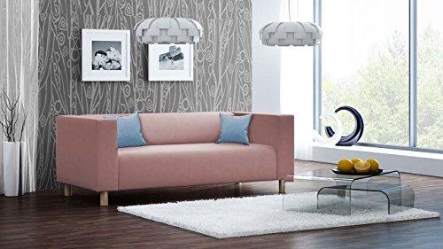 lifestyle4living Sofa, Couch, 3-Sitzer, Polstersofa, Webstoff, altrosa, rosa, pink, Wohnzimmercouch, Designersofa, modern, retro, 3er Sofa