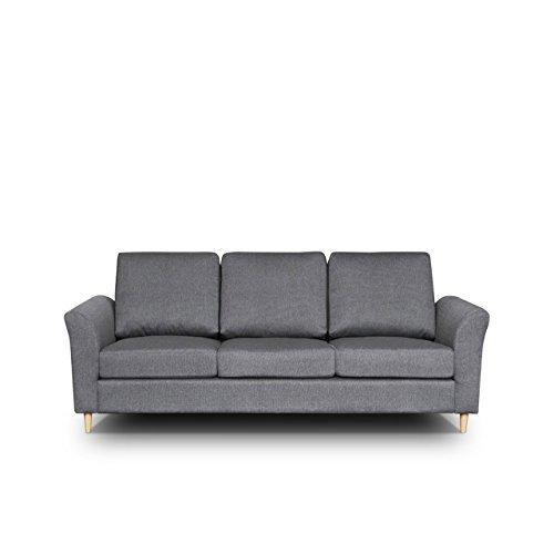 OUTLET !! Sofa Werona III Couch Sofagarnituren Polstersofa Couchgarnitur, Komfortsofa, Wohnzimmer, Stoffsofa, Microfaser, grau