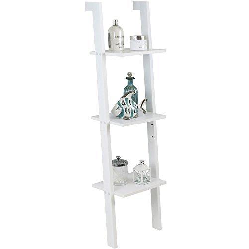 Hartleys - Leiterregal mit 3 Böden - weiß