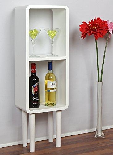Lounge Regal Design Retro 70er Cube Wohnzimmer Standregal in Weiß