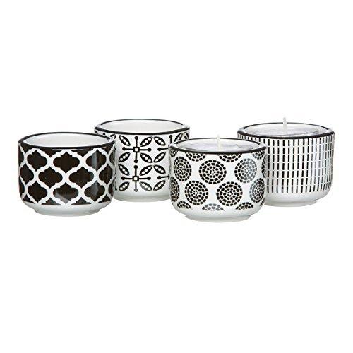Ritzenhoff & Breker Flirt Takeo Teelichthalter, 4er Set, Teelichtständer, Teelicht Halter, Porzellan, 44355