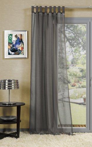 Uni Schlaufenschal, Schlaufengardine 'Tamira' Farbe: grau