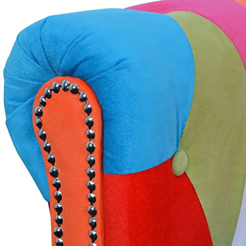 vidaXLChesterfield Sofa 2-Sitzer Loungesofa Couch Stoffsofa Polstersofa Stoff Design