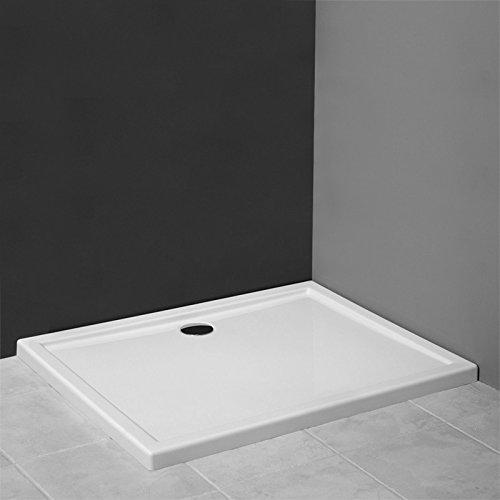AQUABAD® Duschwanne/Duschtasse Superflach Rechteck 90x140x5,5 cm