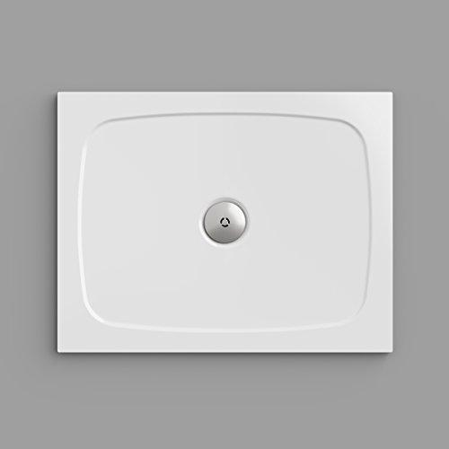 Duschwanne / Duschtasse Nordona® SIMPLEX, rechteckig 70 x 90 cm | Flache Aufbau-Höhe: 3 cm | Kompatibel mit Nordona® VersoFlat Ablauf