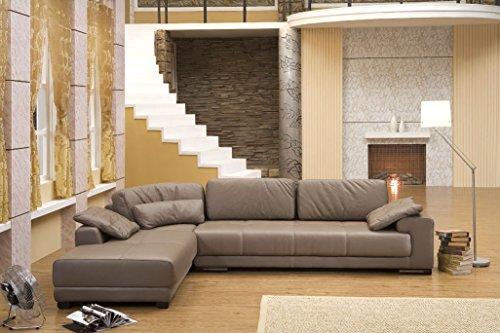 Design Voll-Leder Ecksofa Sofa-Garnitur Eckgruppe Couch Ledersofa 5042-L-1106