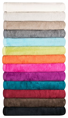 MOON Luxus Wolldecke 60% Baumwolle 40% Acryl Sofaüberwurf Kuscheldecke Wohndecke