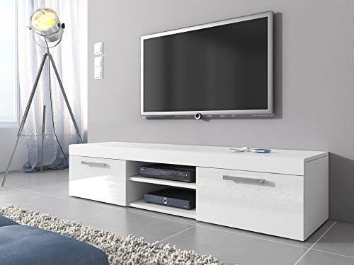 TV-Element TV Schrank Ständer Mambo weiß matt/weiß hochglanz 160cm