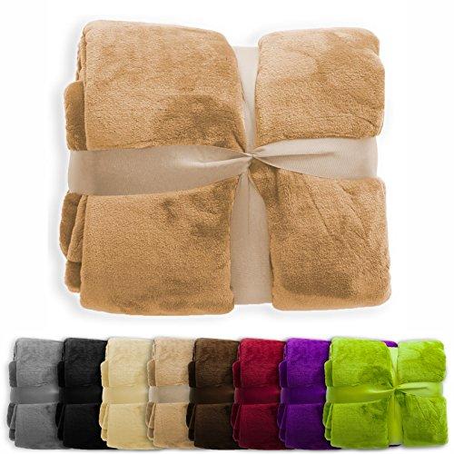 XXL Decke Glory | super weiche Wohndecke / Kuscheldecke | 2 Größen und 8 Farben verfügbar