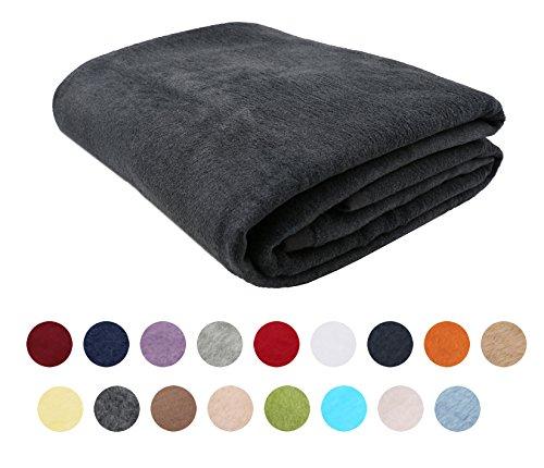 Zollner Kuscheldecke/Wolldecke/Wohndecke Größe ca. 150x200 cm oder 220x240cm, in vielen Farben z.B. grau, rot, braun, weiß, blau, grün, uvm. in Hotelqualität, Serie Colorado