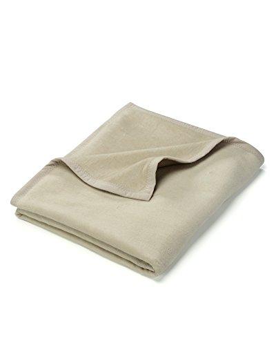 myHomery Uni Kuscheldecke aus Baumwolle - Decke fürs Sofa - Wolldecke warm & kuschelig - Sofadecke XL