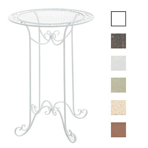 CLP Eisen-Stehtisch THALIA in nostalgischem Design | Gartentisch mit geschwungenen Beinen | In verschiedenen Farben erhältlich