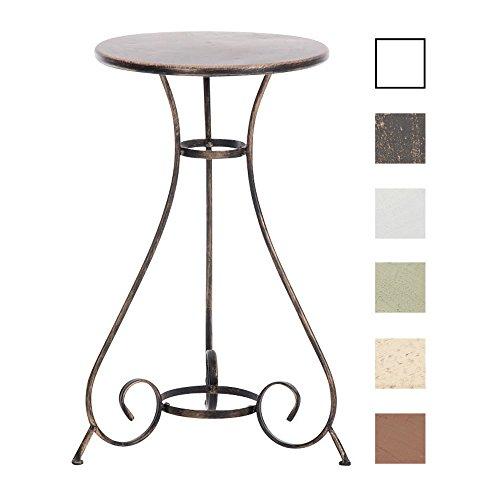 CLP Eisentisch ALAN in nostalgischem Design | Gartentisch mit geschwungenen Beinen | In verschiedenen Farben erhältlich