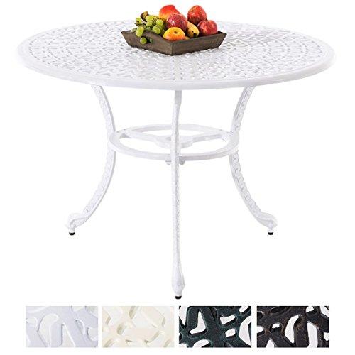 CLP Bistrotisch NARAYANA in nostalgischem Design | Gartentisch mit geschwungenen Beinen | In verschiedenen Farben erhältlich