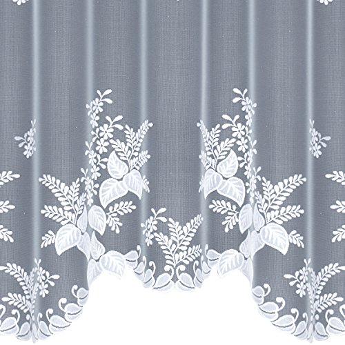 HAFT 219260/150 Konfektionierte Gardine, 150 x 300 cm, weiß