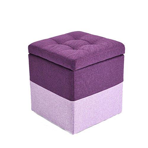 small stool Stoff Niedrige StüHle äNdern Schuhe Hocker Wohnzimmer Sofabank, GroßE KapazitäT Lagerung Abnehmbar und Waschbar Hoch 35 cm, Multi-Color Optional