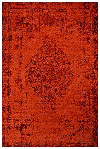 Moderner Teppich Vintage my Milano 572 von obsession, grau, rot, gelb, shabby look,used look , flachgewebe