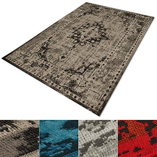 casa pura Vintage Teppich | Viele Größen | im Angesagten Shabby Chic Look | für Wohnzimmer, Schlafzimmer, Flur Etc. | Beige