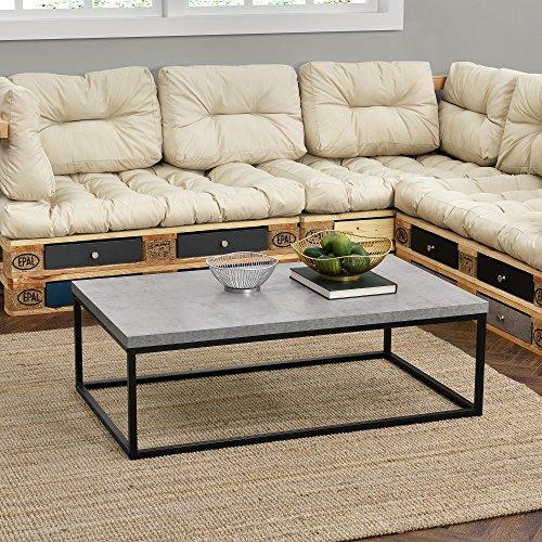 [en.casa]® Couch-Tisch Design MDF Metall Gestell Beistelltisch Wohnzimmer