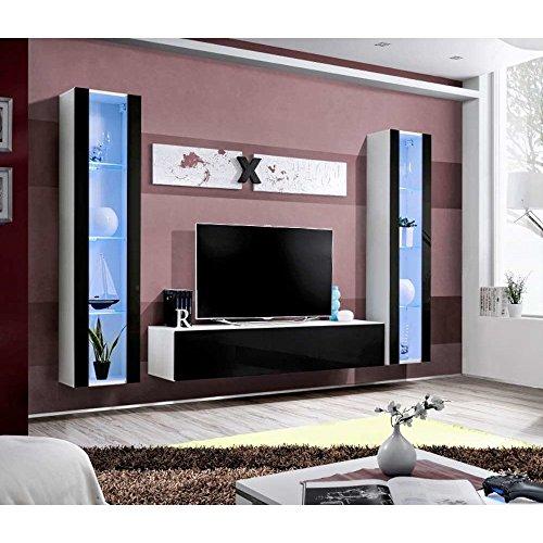 JUSTyou AUR A II Wohnwand Anbauwand Schrankwand (HxBxT): 190x260x40 cm Große Farbauswahl