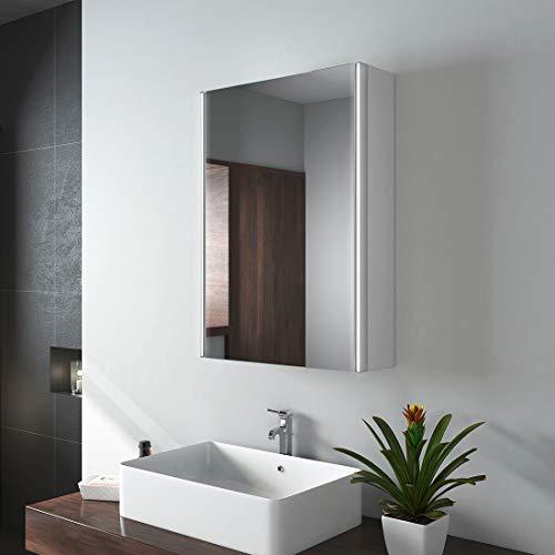 EMKE LED Badspiegel Badezimmerspiegel mit Beleuchtung Warmweissen Lichtspiegel Wandspiegel ...