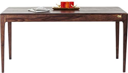 Kare 175x90cm Tisch Brooklyn Walnut, Esszimmertisch aus Massivem Sheesham-Holz, Dunkelbraun gebeizte Esstisch, (H/B/T) 76 x 175 x 90 cm, Eiche