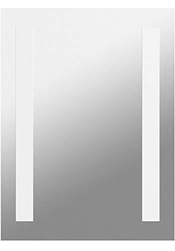 SONNI Badspiegel LED Spiegel (eckig) mit LED Beleuchtung Wandspiegel Badzimmerspiegel kaltweiß IP44 energiesparend