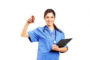 Ärztin bei der Visite