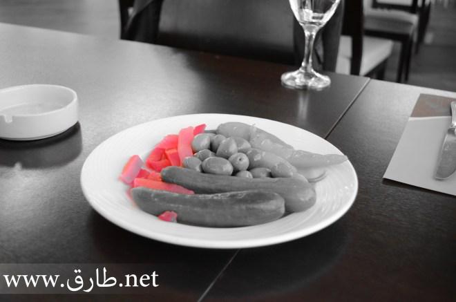 صورة لطبق مخللات بعد تأثير اختيار اللون