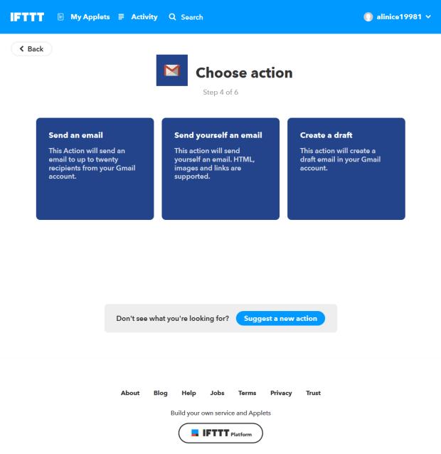 الخطوة الأخيرة لإنشاء آبلت في إيفت IFTTT
