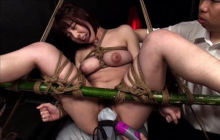 竹緊縛の達磨縛りで連続痙攣イキ!電動ドリルバイブで肉人形の女教師の理性崩壊