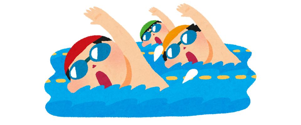 水泳で体を動かす