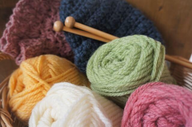 編み物、家でできる趣味・習い事