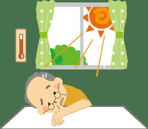 高齢者熱中症室内が危険
