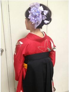 卒業式袴に合う髪型4