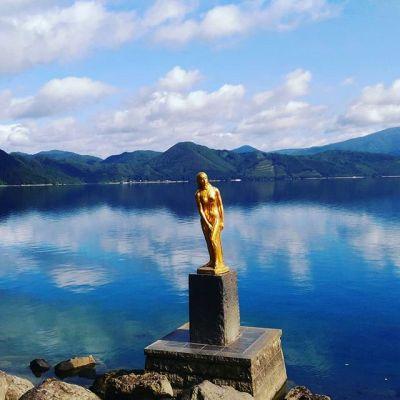 浮木神社ブロンズ像